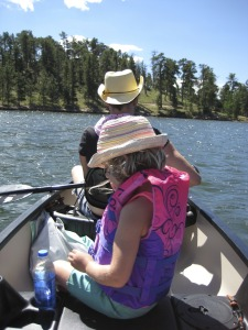 Canoeing at Red Feather Lakes